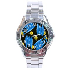 Mackerel Meal Stainless Steel Analogue Watch by Valentinaart