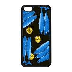 Mackerel Meal Apple Iphone 5c Seamless Case (black) by Valentinaart