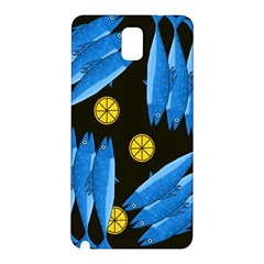 Mackerel Meal Samsung Galaxy Note 3 N9005 Hardshell Back Case by Valentinaart