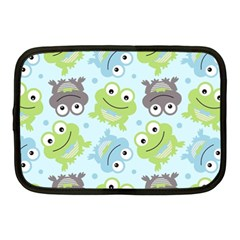 Frog Green Netbook Case (medium)  by AnjaniArt