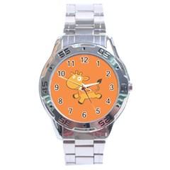 Giraffe Copy Stainless Steel Analogue Watch by AnjaniArt