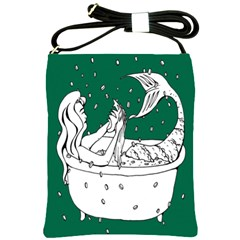 Green Mermaid Shoulder Sling Bags by AnjaniArt