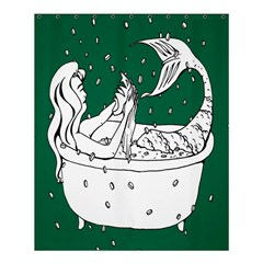 Green Mermaid Shower Curtain 60  X 72  (medium)  by AnjaniArt