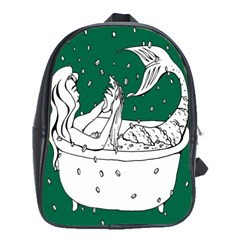 Green Mermaid School Bags (xl)  by AnjaniArt