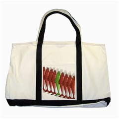 Mackerel Military 2 Two Tone Tote Bag by Valentinaart