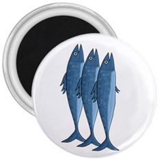Mackerel 3  Magnets by Valentinaart