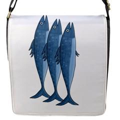 Mackerel Flap Messenger Bag (s) by Valentinaart