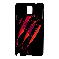 Red Fish Samsung Galaxy Note 3 N9005 Hardshell Case by Valentinaart