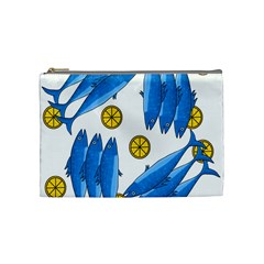 Mackerel Meal 2 Cosmetic Bag (medium)  by Valentinaart