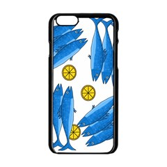 Mackerel Meal 2 Apple Iphone 6/6s Black Enamel Case by Valentinaart