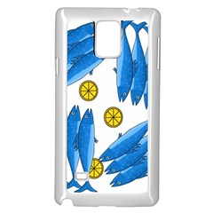Mackerel Meal 2 Samsung Galaxy Note 4 Case (white) by Valentinaart
