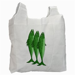 Mackerel   Green Recycle Bag (one Side) by Valentinaart