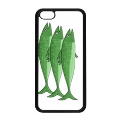 Mackerel   Green Apple Iphone 5c Seamless Case (black) by Valentinaart