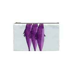 Mackerel   Magenta Cosmetic Bag (small)  by Valentinaart