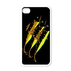 Yellow Fish Apple Iphone 4 Case (white) by Valentinaart