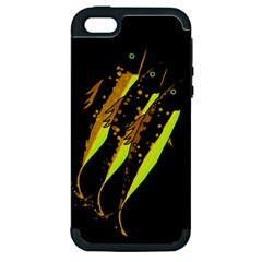 Yellow Fish Apple Iphone 5 Hardshell Case (pc+silicone) by Valentinaart