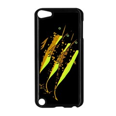 Yellow Fish Apple Ipod Touch 5 Case (black) by Valentinaart