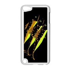 Yellow Fish Apple Ipod Touch 5 Case (white) by Valentinaart