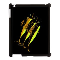 Yellow Fish Apple Ipad 3/4 Case (black) by Valentinaart