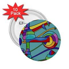 Abstract Machine 2 25  Buttons (10 Pack)  by Valentinaart