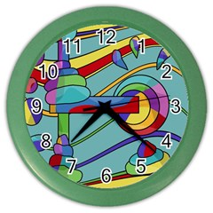 Abstract Machine Color Wall Clocks by Valentinaart