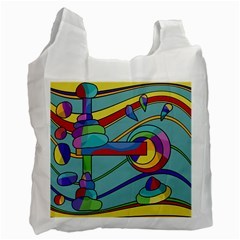 Abstract Machine Recycle Bag (one Side) by Valentinaart