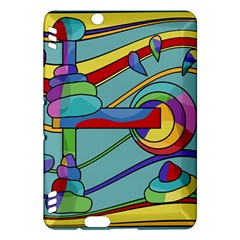 Abstract machine Kindle Fire HDX Hardshell Case by Valentinaart