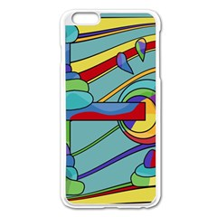 Abstract Machine Apple Iphone 6 Plus/6s Plus Enamel White Case by Valentinaart