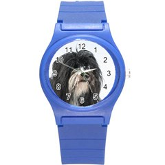 Tibet Terrier  Round Plastic Sport Watch (S) by TailWags