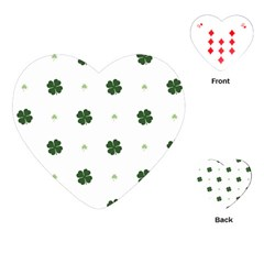 Green Leaf Playing Cards (Heart)