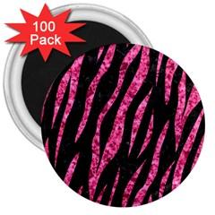 Skin3 Black Marble & Pink Marble 3  Magnet (100 Pack) by trendistuff