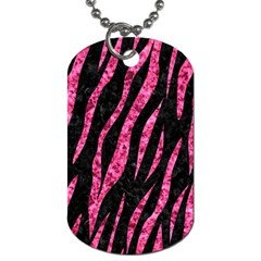 Skin3 Black Marble & Pink Marble Dog Tag (two Sides)