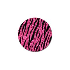 Skin3 Black Marble & Pink Marble (r) Golf Ball Marker (10 Pack) by trendistuff