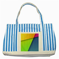 Lock Screen Striped Blue Tote Bag by AnjaniArt