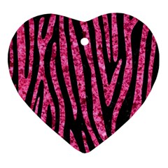 Skin4 Black Marble & Pink Marble (r) Ornament (heart) by trendistuff