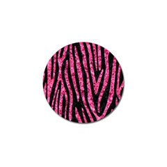 Skin4 Black Marble & Pink Marble (r) Golf Ball Marker by trendistuff