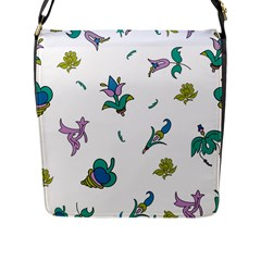 Leaf Flap Messenger Bag (l)  by AnjaniArt