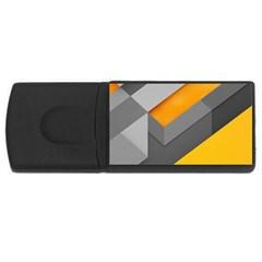 Marshmallow Yellow Usb Flash Drive Rectangular (4 Gb)  by AnjaniArt