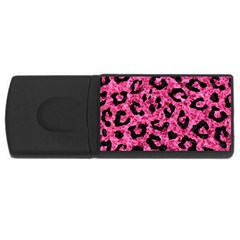 Skin5 Black Marble & Pink Marble Usb Flash Drive Rectangular (4 Gb) by trendistuff