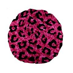 Skin5 Black Marble & Pink Marble Standard 15  Premium Round Cushion  by trendistuff