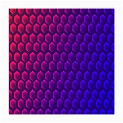Outstanding Hexagon Blue Purple Medium Glasses Cloth by AnjaniArt