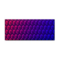 Outstanding Hexagon Blue Purple Cosmetic Storage Cases by AnjaniArt