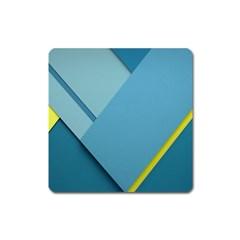 New Bok Blue Square Magnet