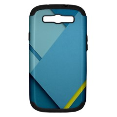 New Bok Blue Samsung Galaxy S Iii Hardshell Case (pc+silicone)