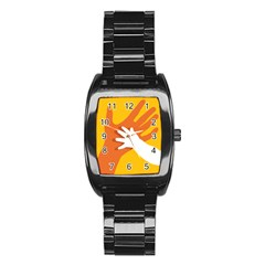 Hand Mom Soon Cute Mains Copy Stainless Steel Barrel Watch by AnjaniArt