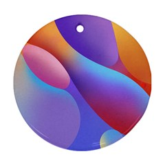 Color Orange Copy Ornament (round)  by AnjaniArt