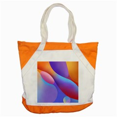 Color Orange Copy Accent Tote Bag by AnjaniArt