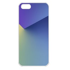 Purple Yellow Apple Iphone 5 Seamless Case (white) by AnjaniArt