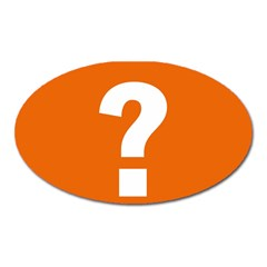 Question Mark Oval Magnet