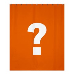 Question Mark Shower Curtain 60  X 72  (medium)  by AnjaniArt